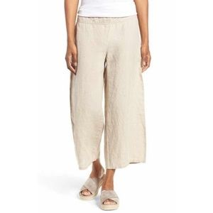 NWT Eileen Fisher   Cropped Wide Leg Linen Pant XL